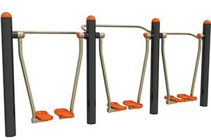 3 Person Air Walker Machine Outdoor Exercise Equipment
