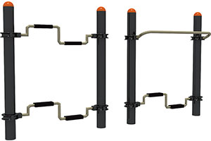 Double Stepping Bar Outdoor Fitness Equipment For Park Use