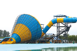 Commercial Aqua Park Large Combined Horn Slide For Sale